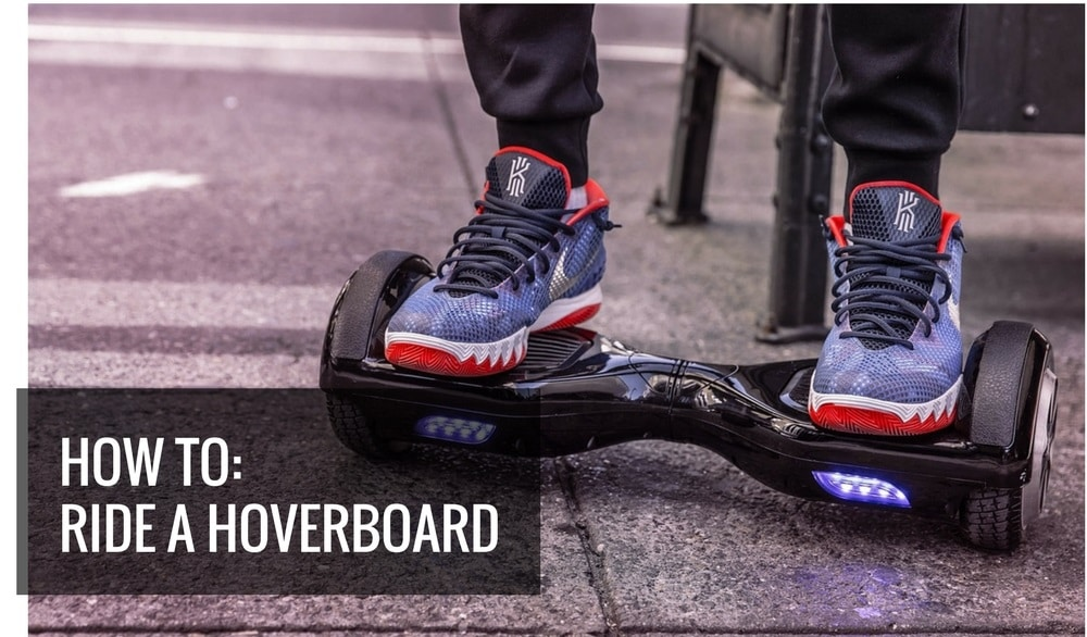 Hoverboard on city street - How to ride a hoverboard 101 featured image