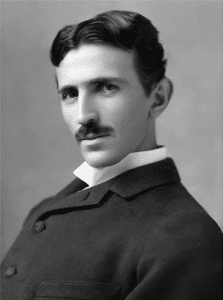 Nikola Tesla - Black and White HeadShot
